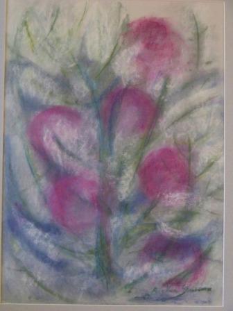 BLOOM, pastel, paper, 42x58cm, 2010, sold