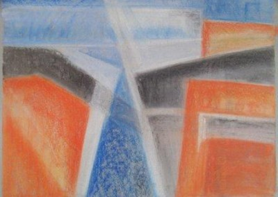 CITY-1, pastel, paper, 58x42cm 2009, sold