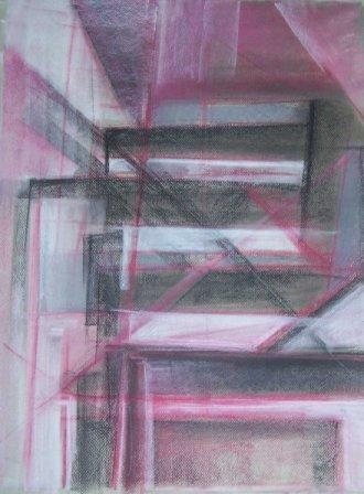 CITY-2, pastel, paper, 58x42cm, 2009, 800 Lt: 231 EUR