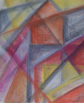 CITY-3, pastel, paper, 42x48cm, 2008, 500 Lt: 144 EUR