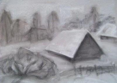 COUNTRY, pastel, paper, 58x42cm, 2008, 900 Lt: 260 EUR