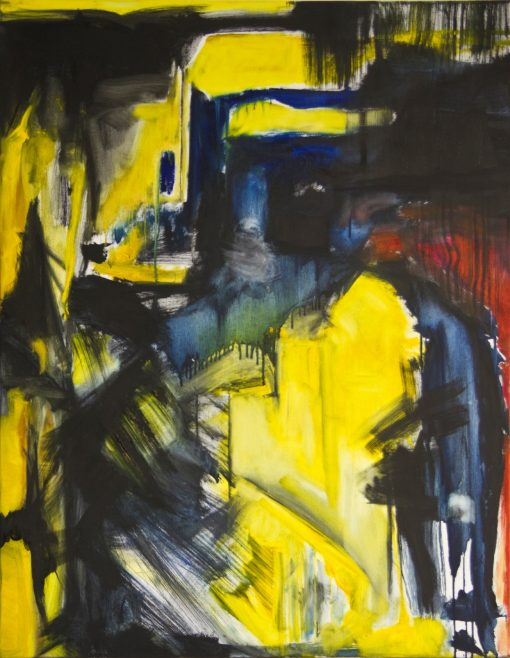 CRAZY YELLOW-1, oil, canvas 70x90cm, 2013, 950 EUR