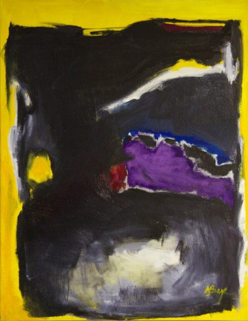 CRAZY YELLOW-2, oil, canvas, 70x90 cm, 2013, 950 EUR