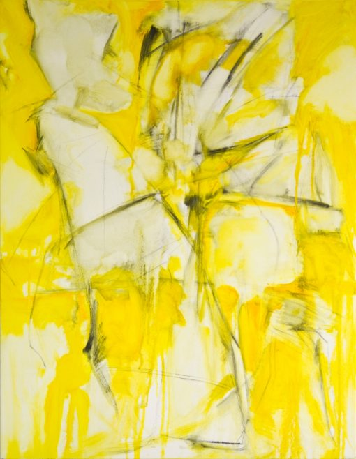 CRAZY YELLOW-6, oil, canvas, 70x90cm, 2014 m, 950 EUR