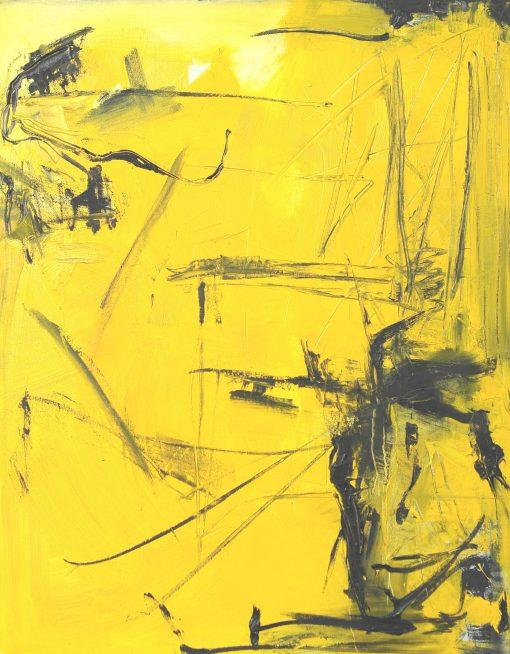 CRAZY YELLOW-7, oil, canvas 70x90cm, 2015, 950 EUR