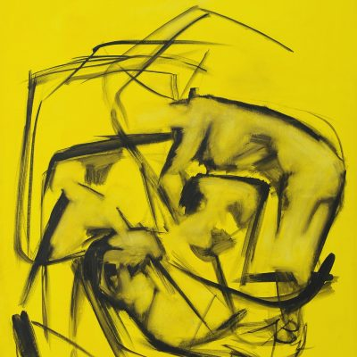 CRAZY YELLOW-8, oil, canvas 70x90cm, 2015, 950 EUR