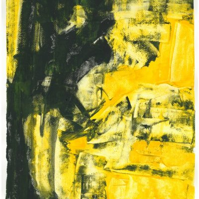 CRAZY YELLOW, sketch 1, 30x42 cm, acrylic, paper, 2013, property of Janet Taylor