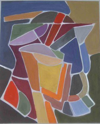 DARK STILL LIFE, 42x52 cm tempera, paper, 2006, 490 Lt: 141 EUR