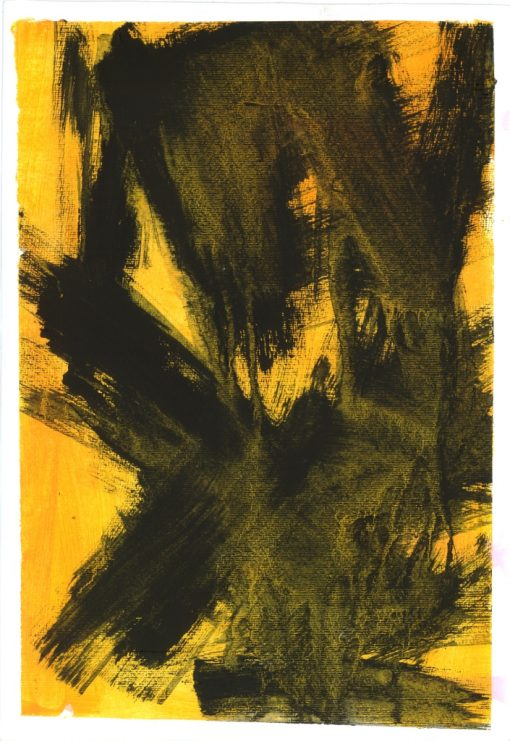 ETUDES YELLOW MADNESS 2, Acrylic, Paper, 34x50 cm, 2013 m.; 95 EUR