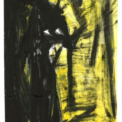 ETUDES YELLOW MADNESS 3, Acrylic, Paper, 34x50 cm, 2013 m.; 95 EUR