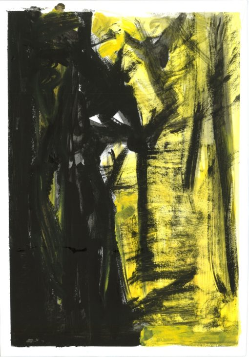 ETUDES YELLOW MADNESS 3, Acrylic, Paper, 34x50 cm, 2013 m.; 95 EUR
