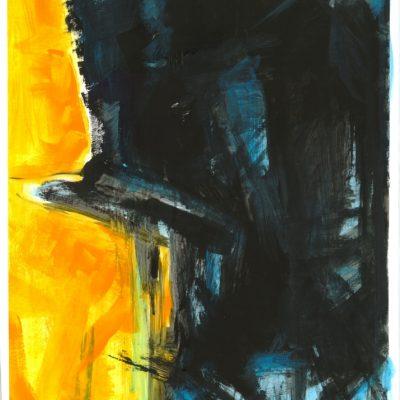 ETUDES YELLOW MADNESS 4, Acrylic, Paper, 34x50 cm, 2013 m.; 95 EUR