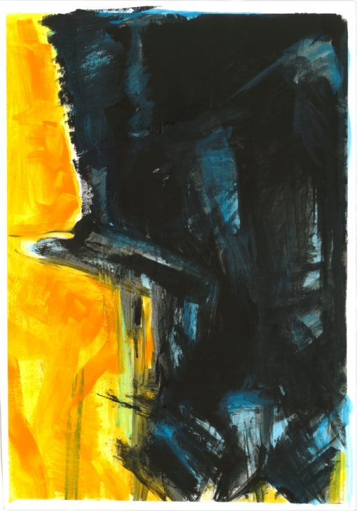 ETUDES YELLOW MADNESS 4, Acrylic, Paper, 34x50 cm, 2013 m.; 95 EUR