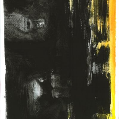 ETUDES YELLOW MADNESS 5, Acrylic, Paper, 34x50 cm, 2013 m.; 95 EUR