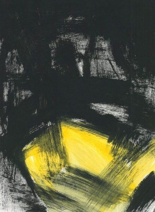 ETUDES YELLOW MADNESS 7, Acrylic, Paper, 30x40 cm, 2013 m.; 75 EUR