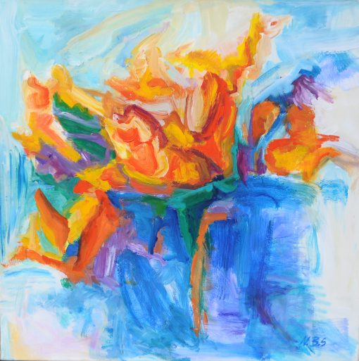 FLOWER IN THE TUBE, acril,canvas, 90x90cm, 2011, 530 EUR