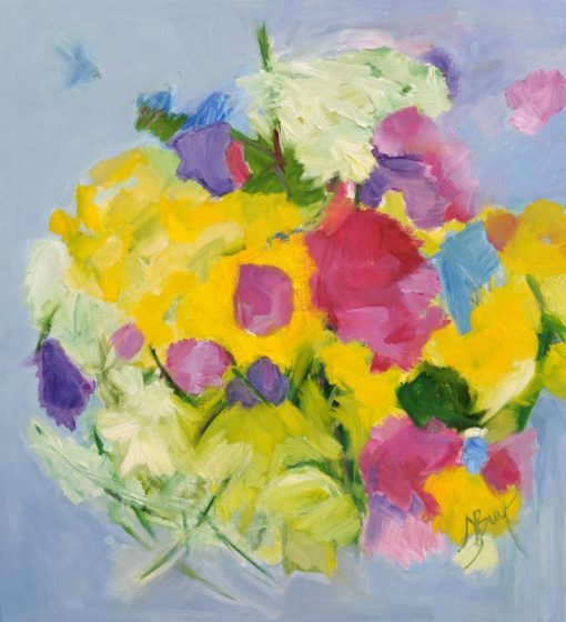 LATE BLOOMING, oil, canvas, 90x100 cm., 2015; 790 EUR