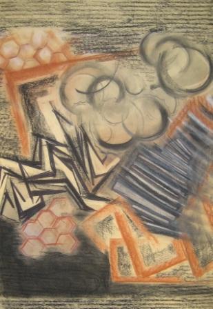 ORNAMENT, patel, paper, 42x58cm, 2006, 900 Lt: 260 EUR