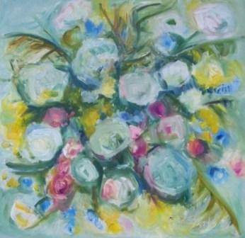 SPRING FLOWERS, oil, canvas, oil 70x70cm, 2010, sold
