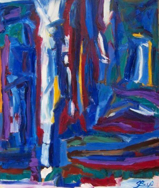 THE BLUE, 100x120 cm, oil, canvas, 2013 m, 1290 EUR