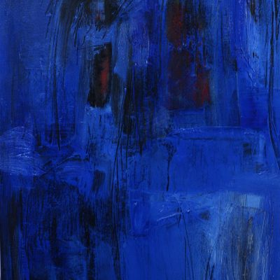 THE BLUE, oil, acrylic, canvas, 50x75 cm., 2015; 390 EUR