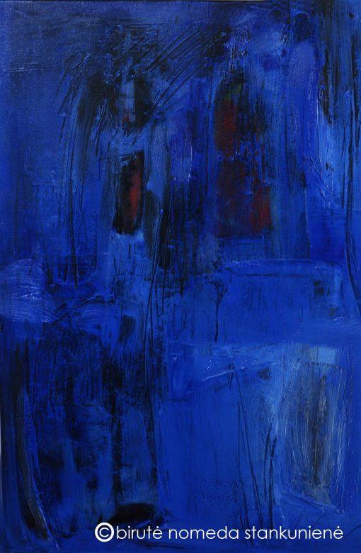 THE BLUE, oil, acrylic, canvas, 50x75 cm., 2015; 390 EUR
