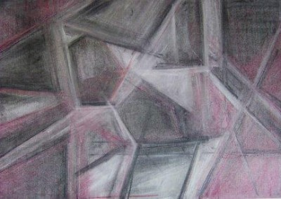 THE BREAK OF THE ICE, pastel, paper, 58x42cm, 2008, 400 Lt: 115 EUR