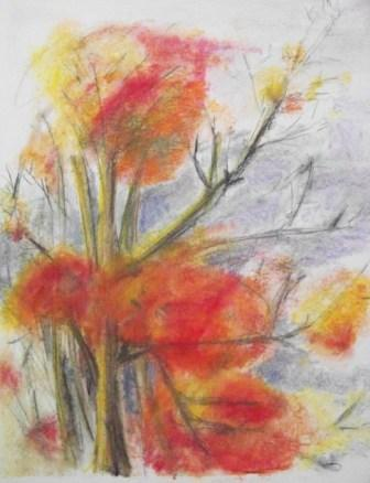 THE DAY, pastel, flowers, 58x84cm, 2009, 1200 Lt: 347 EUR