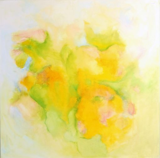 THE SMELL OF THE SPRING, oil, canvas 100x100cm 2013 m, 1050 EUR