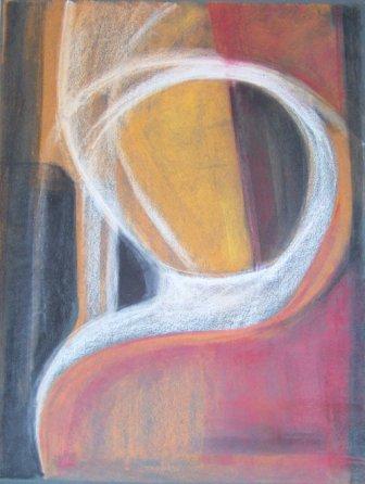THOUGHT-2 ,pastel, paper, 42x58cm, 2008, 800 Lt: 231 EUR