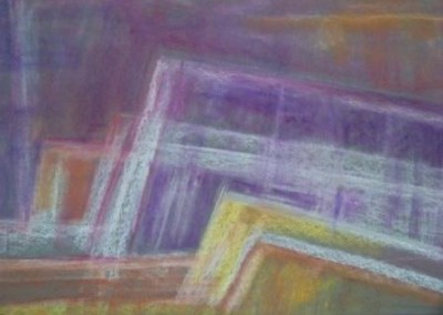 THROUGH, BARRIER, pastel, paper, 42x58cm, 2007, 600 Lt: 173 EUR