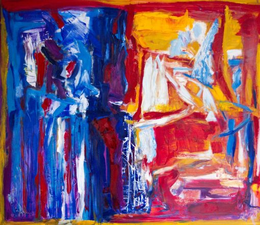 TWO WORLDS, oil, canvas, 140x120cm, 2490 EUR