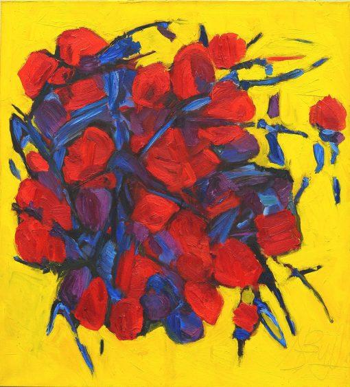 BERRIES W100xH110xD2cm oil canvas 2015