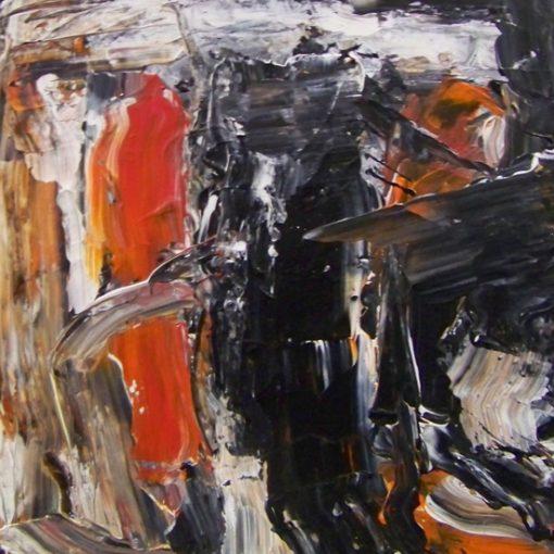 Black Orange Composition 35x35xx0,4cm 2013