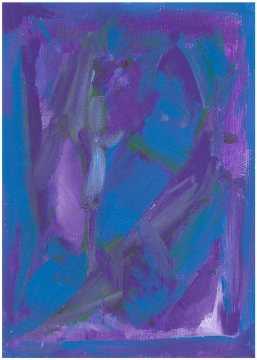 Blue Blue composition acrylic, paper, 21x29cm, 2013