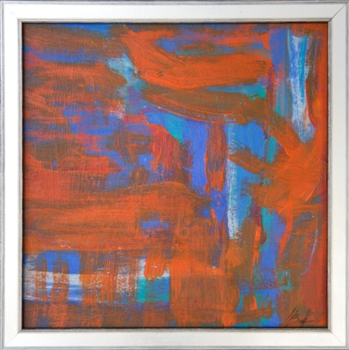 Blue and Orange composition-3, 25s25x0,4cm 2013