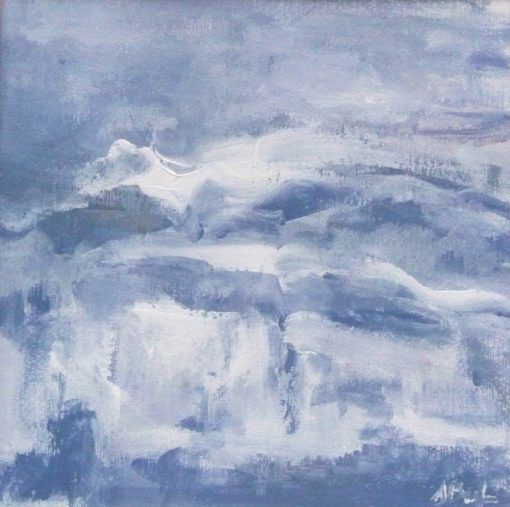 CLOUDS OF SNOW, acrylic, paper, 29x29 cm, 2012