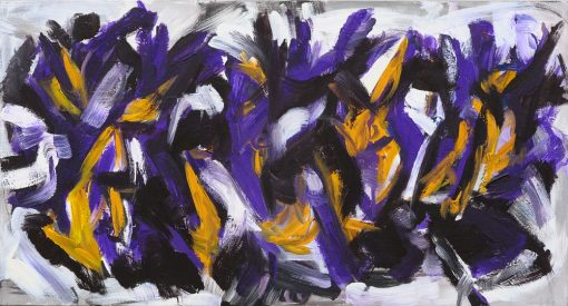 CROCUS BLOOM, acrylic, canvas, 130x70 cm, 2011