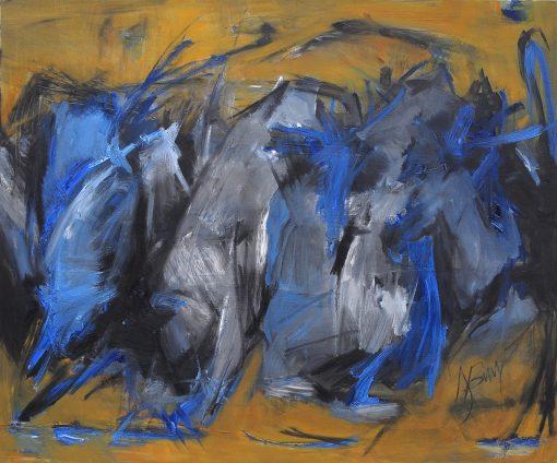 CROS COW, I GO, oil, canvas, 120x100 cm.; 2015
