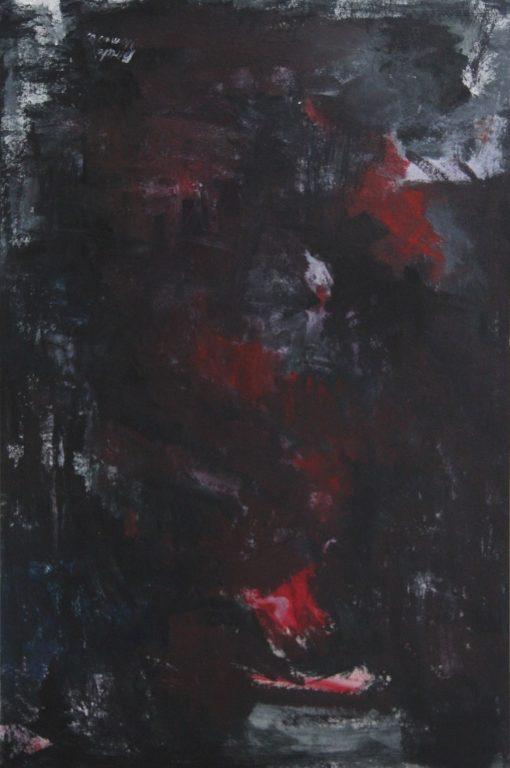 EMPTINESS, acrylic, cardboard,100 xx80X0,4cm 2012
