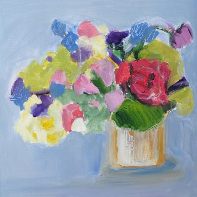 FLOWERS IN A CUP acrylic, canvas, 50x50 cm., 2015