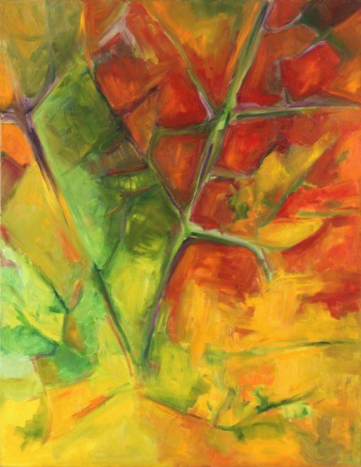 MAPLE LEAF 3 oil canvas 70x90x2cm 2009