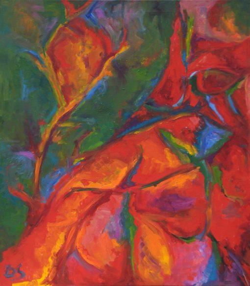 MAPLE LEAF 4 oil canvas 80x90x2cm 2009