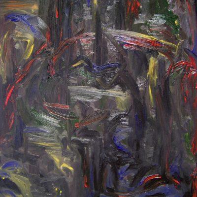 MIDNIGHT oil canvas 70x90x2cm 2010 mat 1000x1280