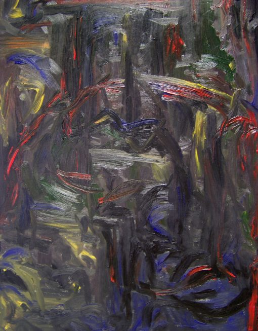 MIDNIGHT oil canvas 70x90x2cm 2010 mat 1000x1280