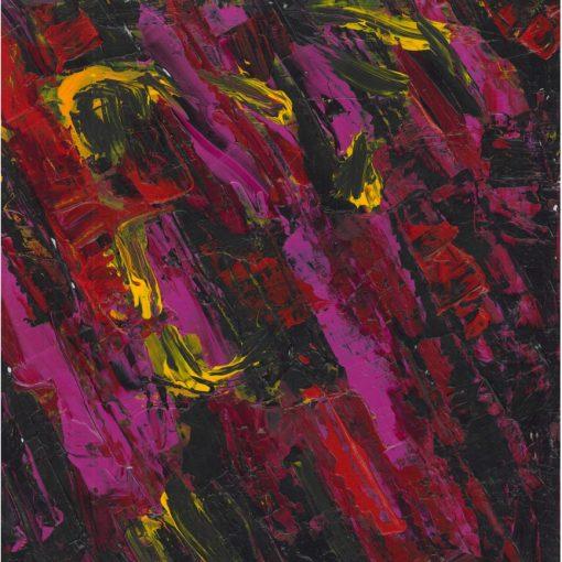 Purple and Black composition 35x35x0,04cm 2013