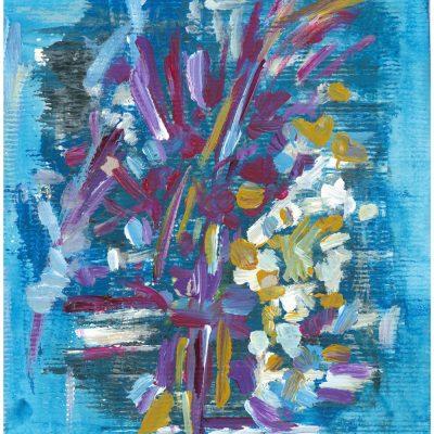 SUMMER BUCKET, paper, acrylic, 23x32 cm, 2014