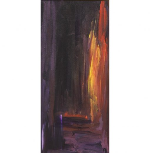 THE FLAME, acrylic, paper,17x37cm, 2012