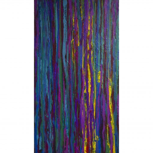 THE RAIN, acrylic, canvas, 70x130 cm, 2013 - vertical