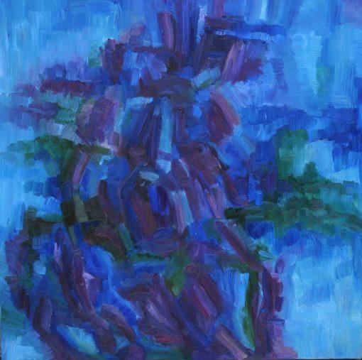 THE RAINY SUMMER DAY  oil canvas 70x70x2cm 2011